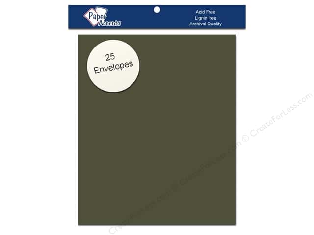 4 1/4 x 5 1/2 in. Envelopes by Paper Accents 25 pc. #76 Dusty Green