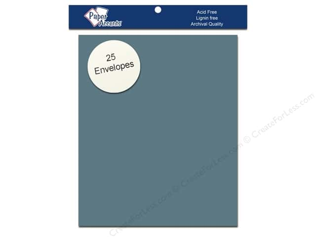 4 1/4 x 5 1/2 in. Envelopes by Paper Accents 25 pc. #77 Dusty Blue