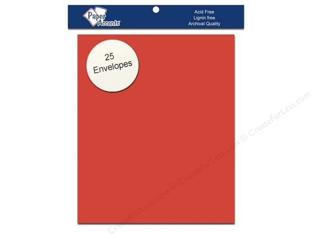 4 1/4 x 5 1/2 in. Envelopes by Paper Accents 25 pc. #80 Dusty Red