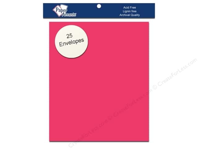 4 1/4 x 5 1/2 in. Envelopes by Paper Accents 25 pc. #192 Razzle Berry