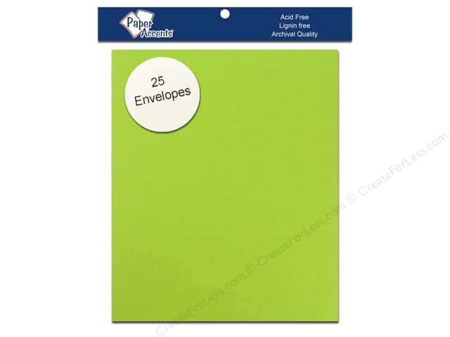 4 1/4 x 5 1/2 in. Envelopes by Paper Accents 25 pc. #195 Sour Apple