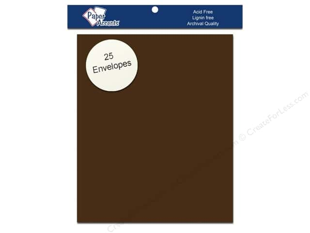 4 1/4 x 5 1/2 in. Envelopes by Paper Accents 25 pc. #725 Espresso