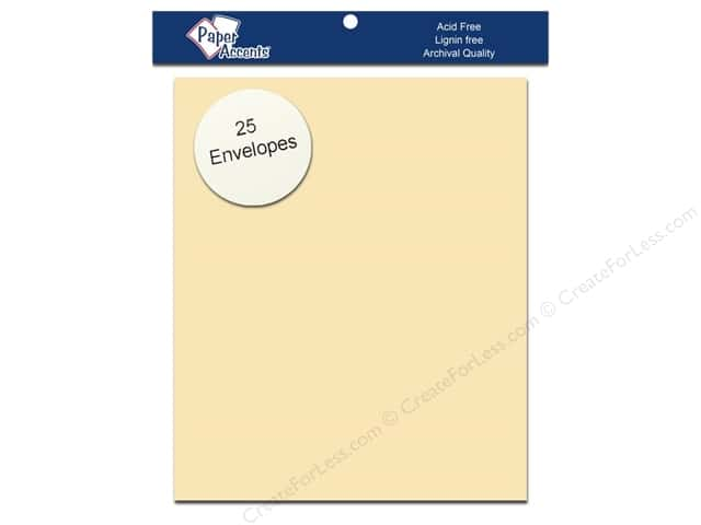 4 1/4 x 5 1/2 in. Envelopes by Paper Accents 25 pc. #202 Parchment Cream