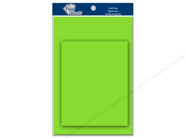 4 1/4 x 5 1/2 in. Blank Card & Envelopes by Paper Accents 10 pc. Lime Green