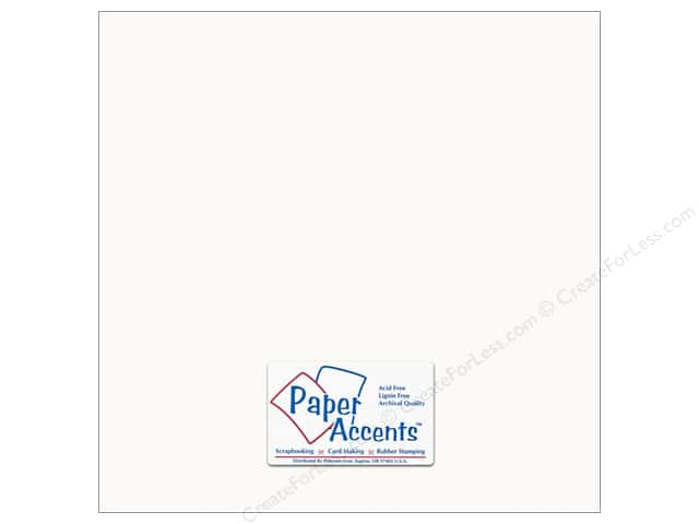 Cardstock 12 x 12 in. #294 Butcher White by Paper Accents (25 sheets)