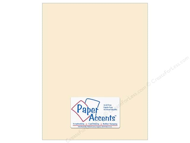 Cardstock 8 1/2 x 11 in. #295 Butcher Cream by Paper Accents (25 sheets)