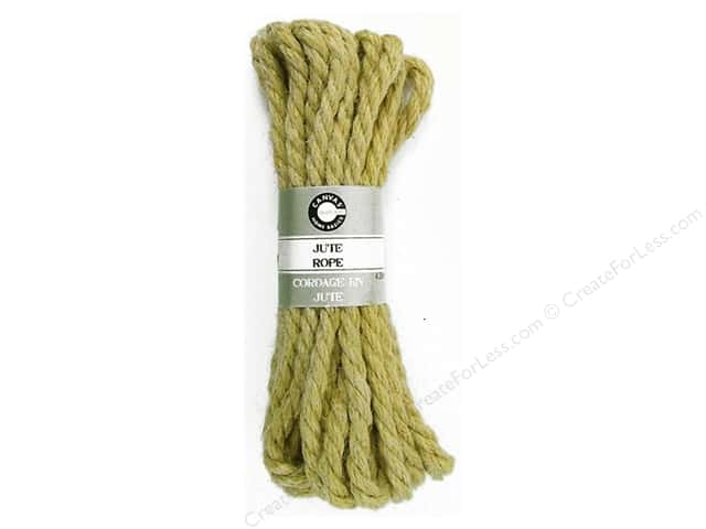 Canvas Corp Jute Rope 14 ft. Light Natural