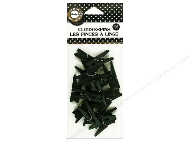 Canvas Corp Mini Clothespins 25 pc. Black