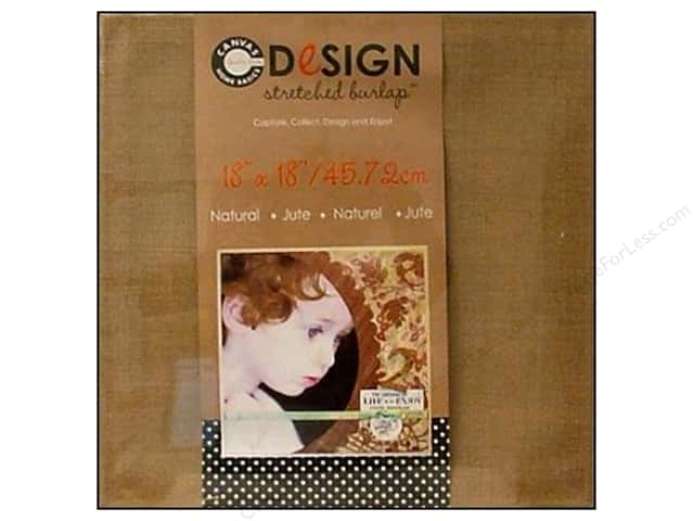 Canvas Corp Stretched Burlap 18 x 18 in. Blank