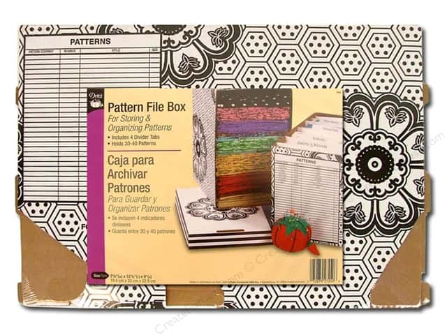 Pattern File Box by Dritz 7 5/8 x 12 5/8 x 9 in.