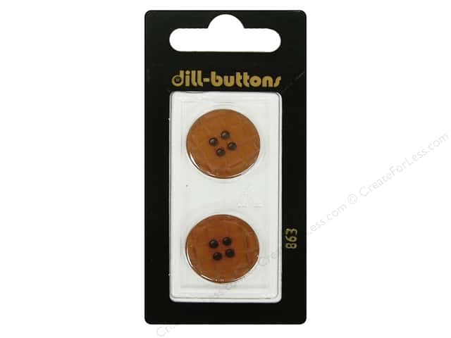 Dill 4 Hole Buttons 13/16 in. Brown #863 2pc.