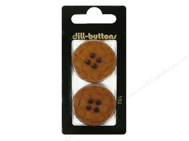 Dill 4 Hole Buttons 1 1/4 in. Brown #864 2pc.