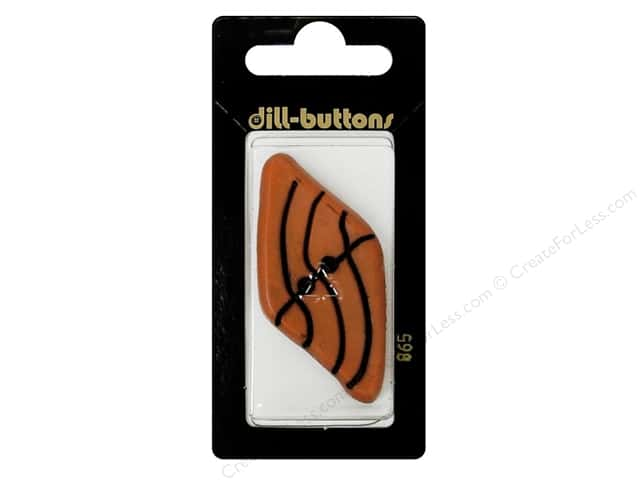 Dill 2 Hole Buttons 2 1/8 in. Dark Orange #865 1pc.