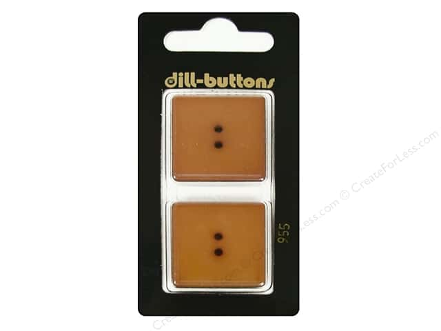 Dill 2 Hole Buttons 1 in. Brown #955 2pc.