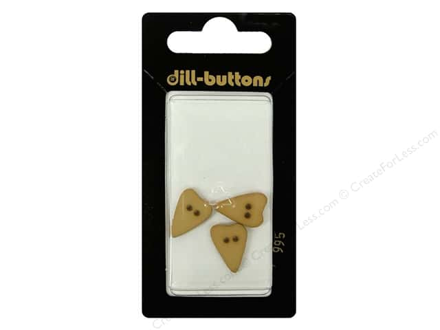 Dill 2 Hole Buttons 5/8 in. Beige Heart #995 3pc.