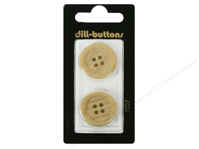 Dill 4 Hole Buttons 7/8 in. Wood Beige #1007 2pc.