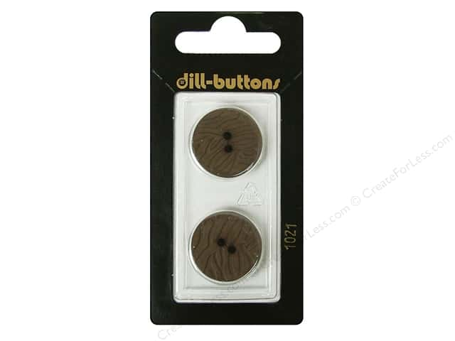 Dill 2 Hole Buttons 13/16 in. Brown #1021 2pc.