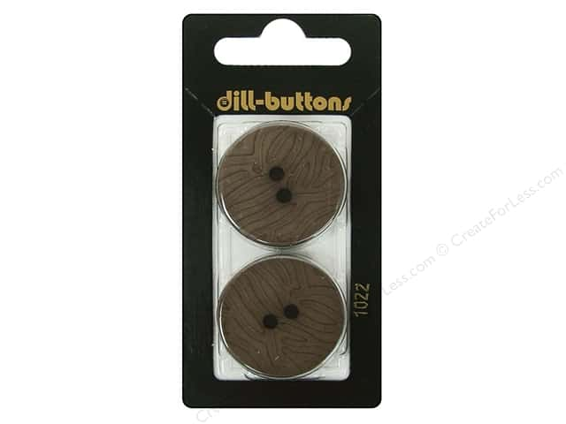 Dill 2 Hole Buttons 1 1/8 in. Brown #1022 2pc.