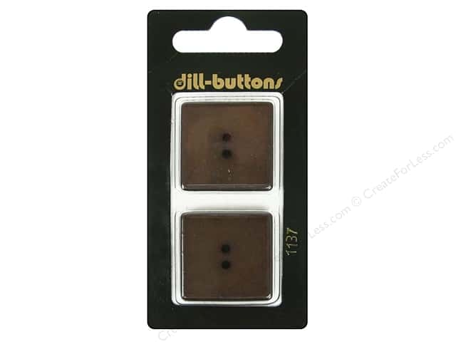 Dill 2 Hole Buttons 1 in. Brown #1137 2pc.
