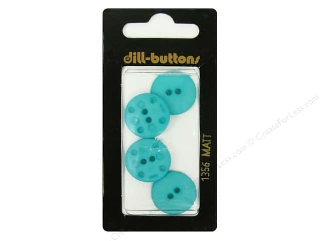 Dill 2 Hole Buttons 11/16 in. Blue #1356 4pc.