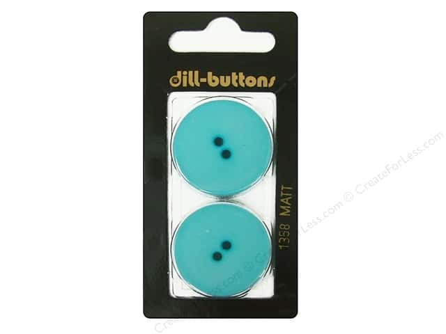 Dill 2 Hole Buttons 1 1/8 in. Blue #1358 2pc.