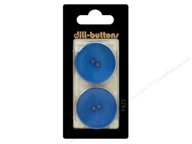 Dill 2 Hole Buttons 1 1/10 in. Medium Blue #1421 2 pc.