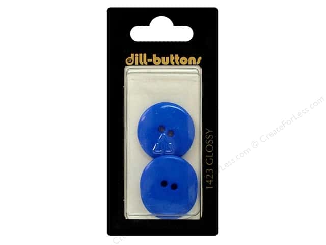 Dill 2 Hole Buttons 7/8 in. Medium Blue #1423 3pc.