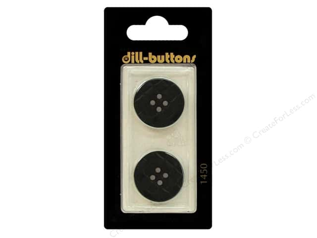 Dill 4 Hole Buttons 13/16 in. Navy Blue #1450 2pc.