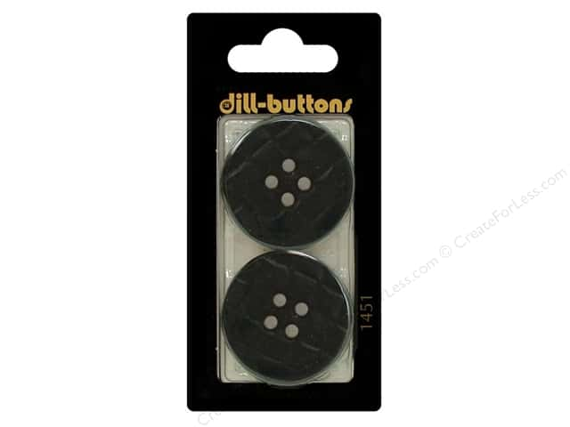 Dill 4 Hole Buttons 1 1/4 in. Navy Blue #1451 2pc.