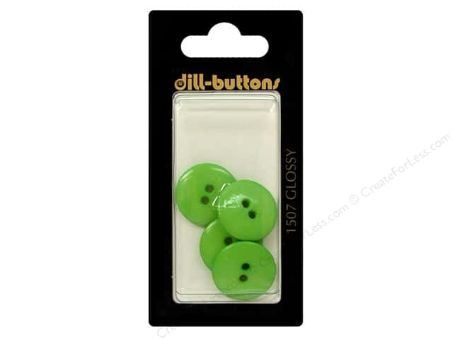 Dill 2 Hole Buttons 11/16 in. Green #1507 4pc.