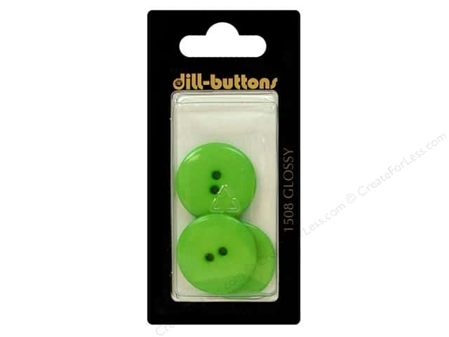 Dill 2 Hole Buttons 7/8 in. Green #1508 3pc.