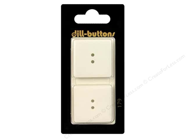 Dill 2 Hole Buttons 1 in. White #179 2pc.