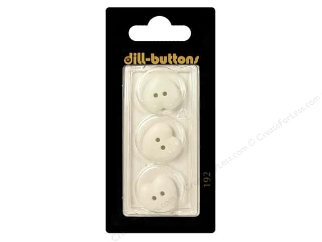 Dill 2 Hole Buttons 5/8 in. White Heart #192 3pc.