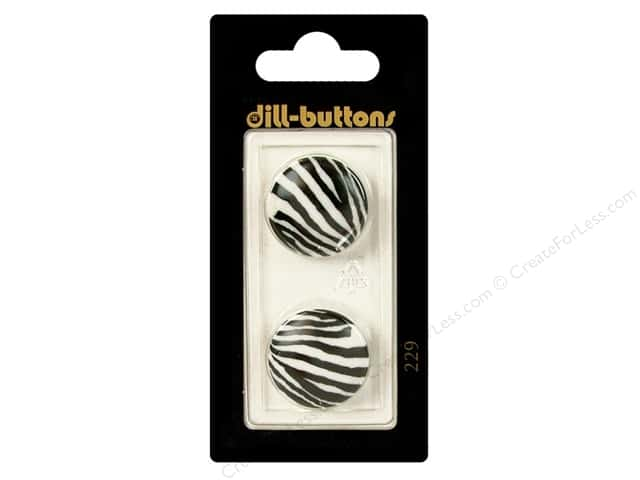 Dill Shank Buttons 13/16 in. White/Black #229 2pc.