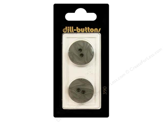 Dill 2 Hole Buttons 13/16 in. Grey #390 2 pc.