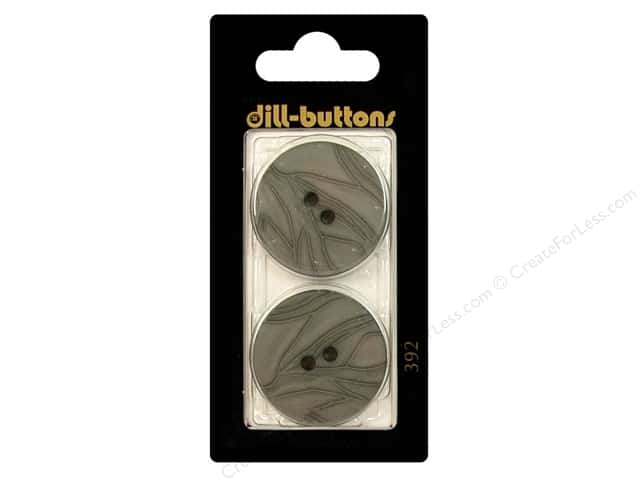 Dill 2 Hole Buttons 1 1/8 in. Grey #392 2pc.