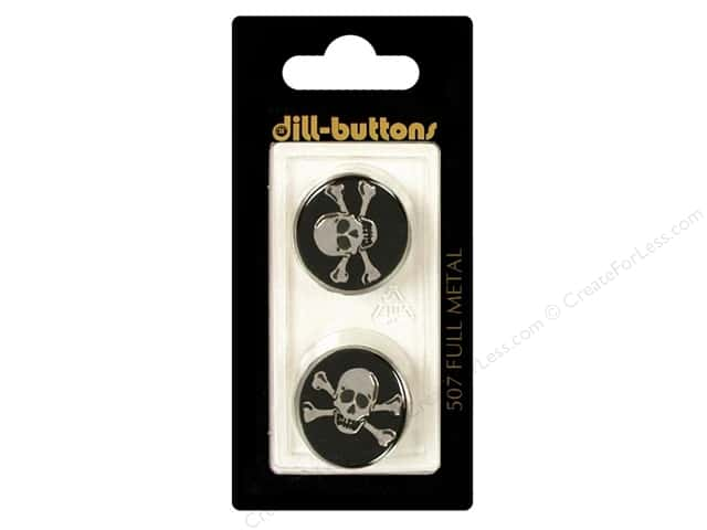 Dill Shank Buttons 13/16 in. Metal Enamel Black #507 2pc.
