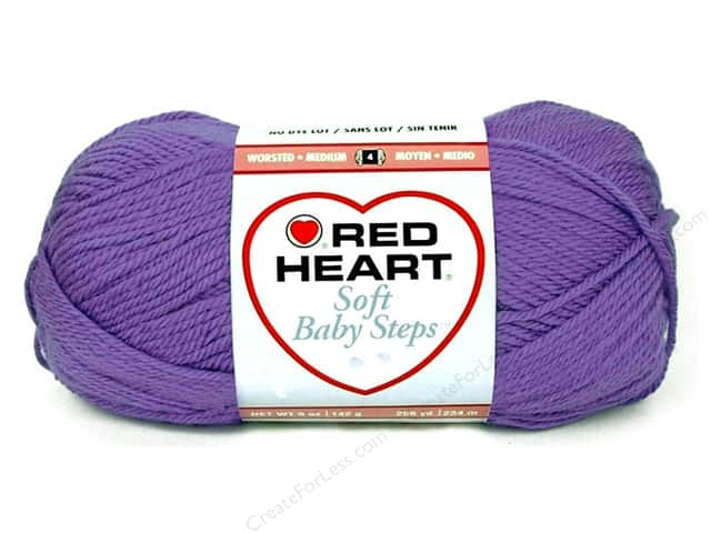 Red Heart Soft Baby Steps Yarn #9536 Light Grape 256 yd.