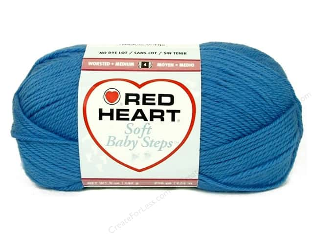 Red Heart Soft Baby Steps Yarn #9802 Deep Sky 256 yd.