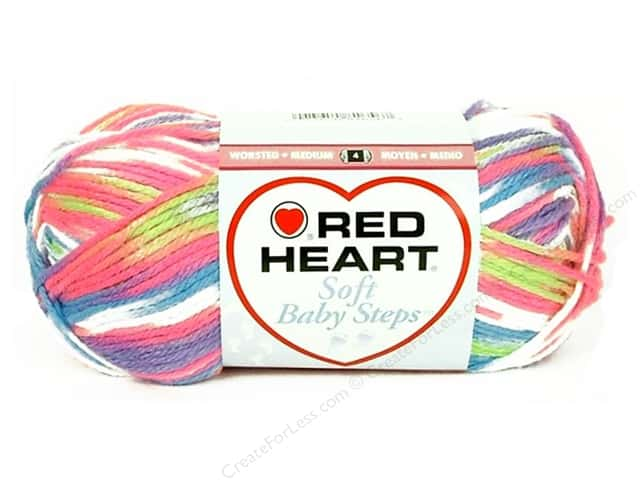 Red Heart Soft Baby Steps Yarn #9937 Giggle 204 yd.