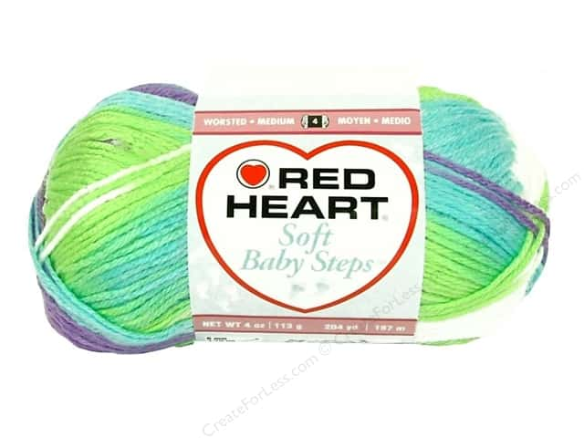 Red Heart Soft Baby Steps Yarn #9939 Tickle 204 yd.