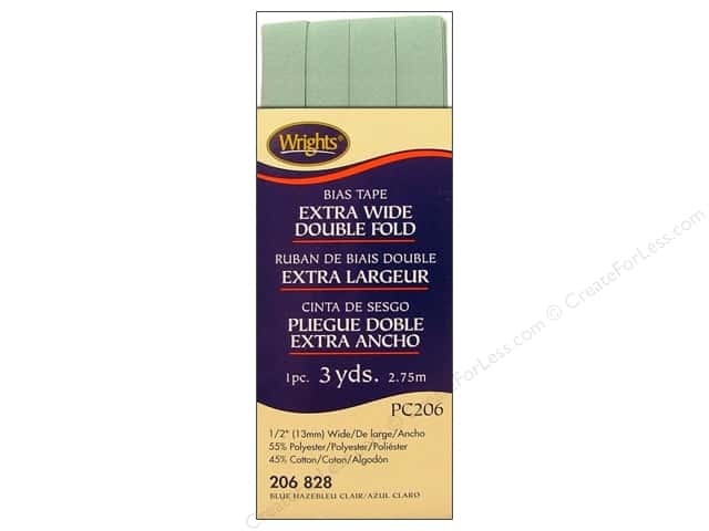 Wrights Extra Wide Double Fold Bias Tape Blue Haze 3 yd.