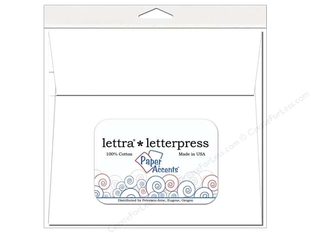 7 x 7 in. Lettra Letterpress Envelopes by Paper Accents 10 pc. White