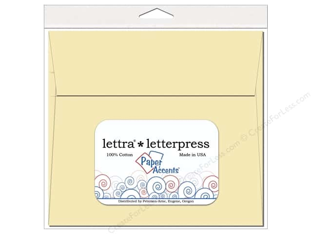 7 x 7 in. Lettra Letterpress Envelopes by Paper Accents 10 pc. Natural