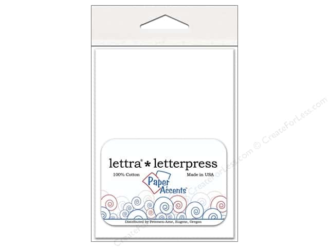 3 4/6 x 5 1/8 in. Lettra Letterpress Envelopes by Paper Accents 10 pc. White