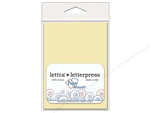3 4/6 x 5 1/8 in. Lettra Letterpress Envelopes by Paper Accents 10 pc. Natural