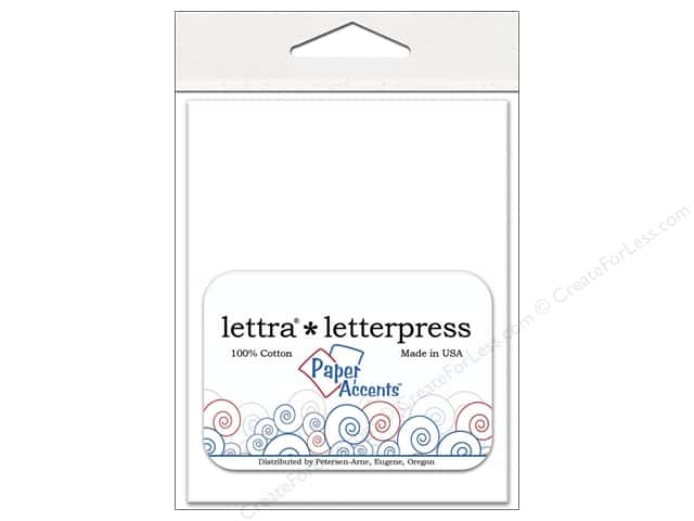 4 2/5 x 5 3/4 in. Lettra Letterpress Envelopes by Paper Accents 10 pc. White
