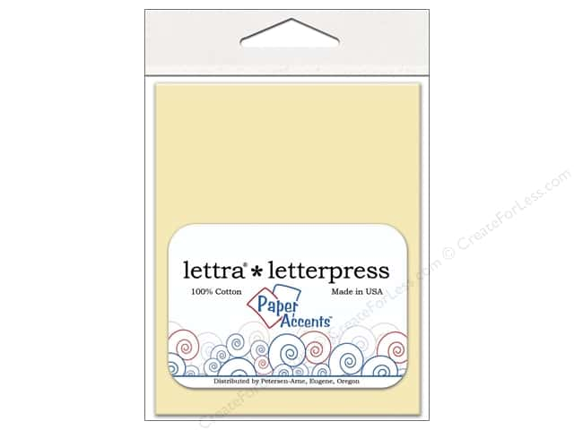 4 2/5 x 5 3/4 in. Lettra Letterpress Envelopes by Paper Accents 10 pc. Natural