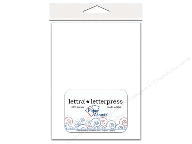 5 1/4  x 7 1/4 in. Lettra Letterpress Envelopes by Paper Accents 10 pc. White