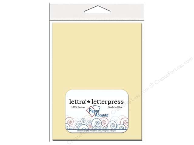 5 1/4  x 7 1/4 in. Lettra Letterpress Envelopes by Paper Accents 10 pc. Natural